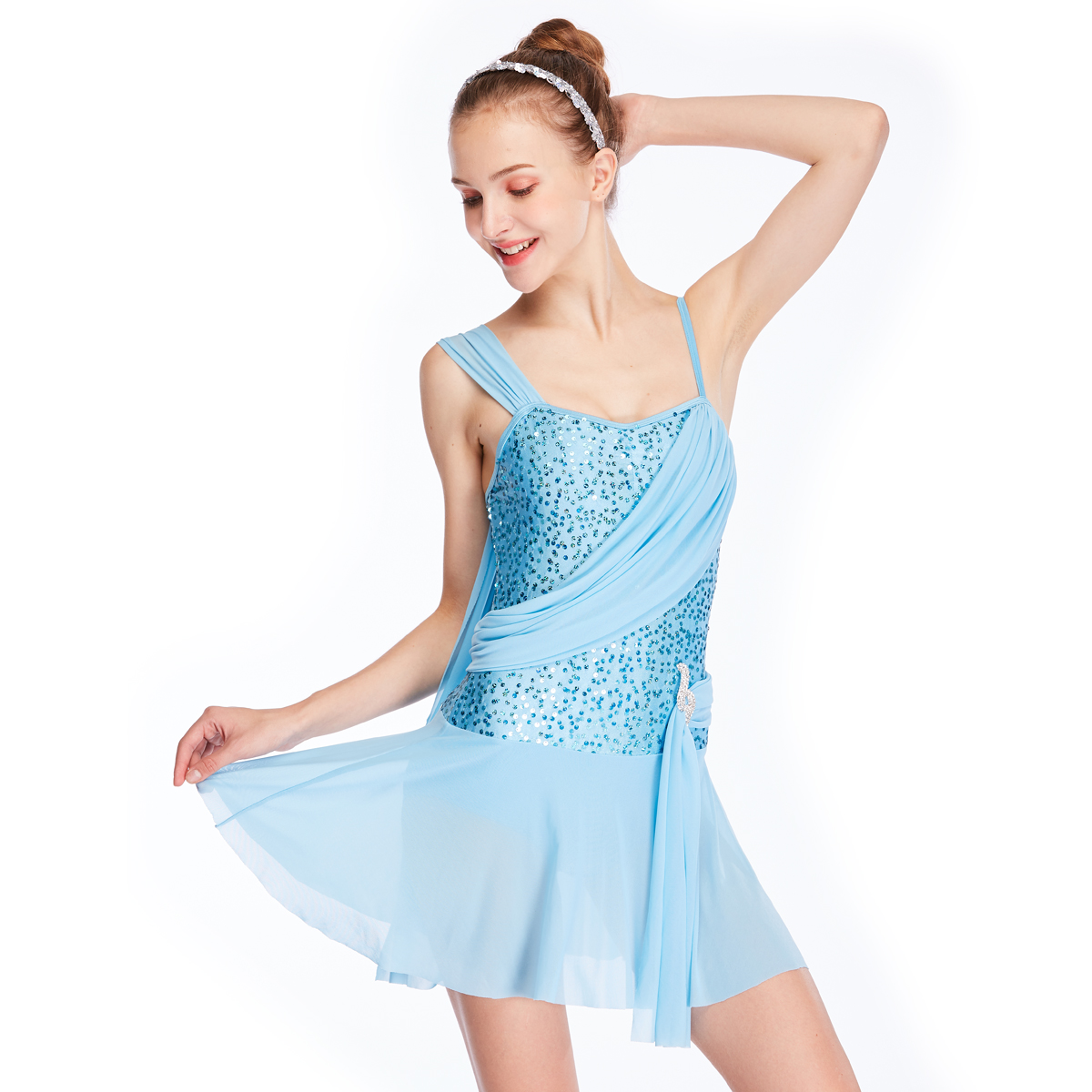 MIDEE OEM lyrical contemporary costumes dance clothes competition-1