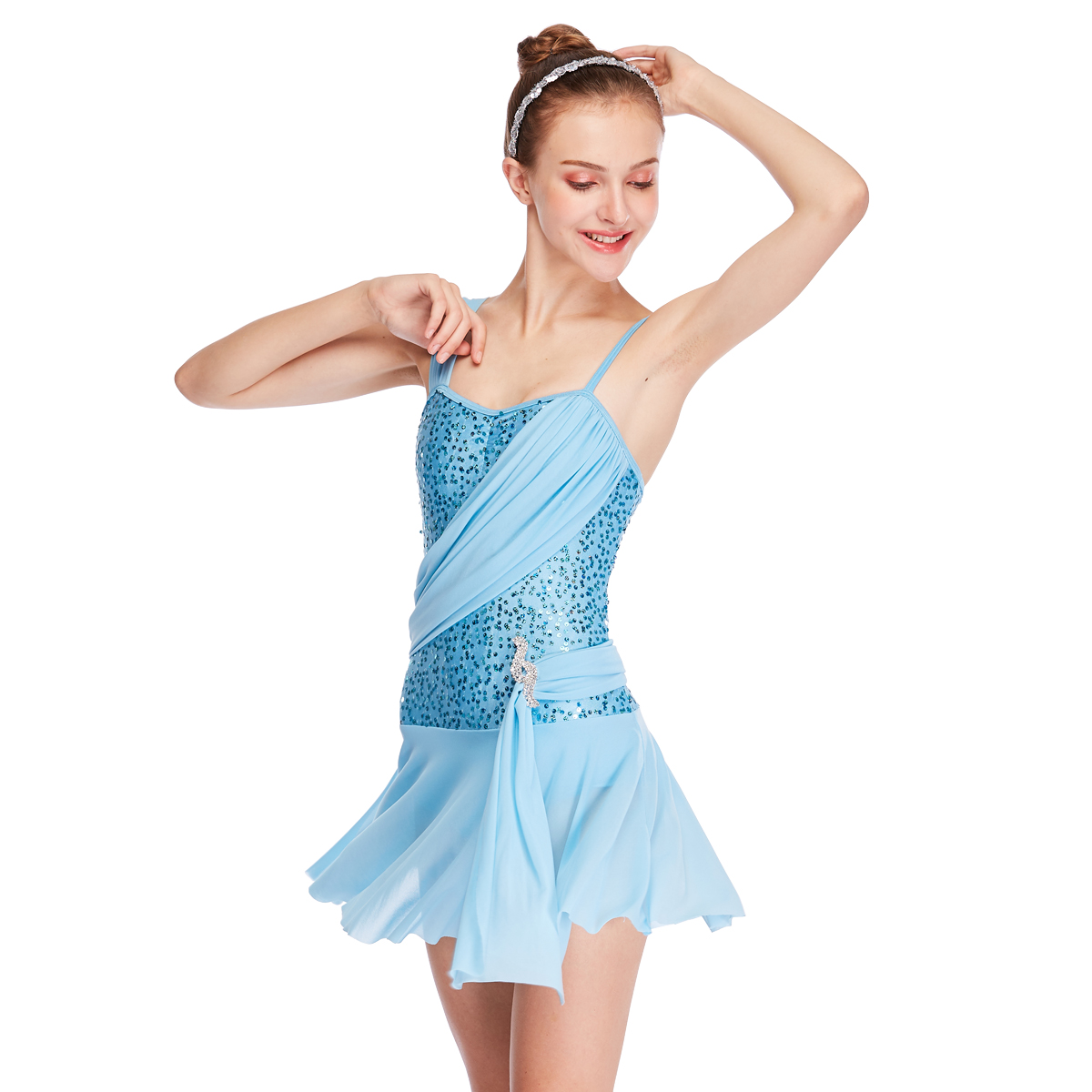 MIDEE OEM lyrical contemporary costumes dance clothes competition-2