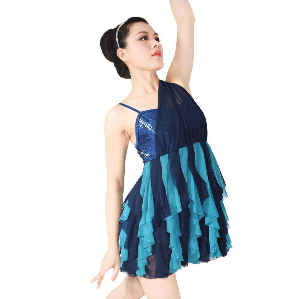 ballet lyrical dress girls dance stage show costumes
