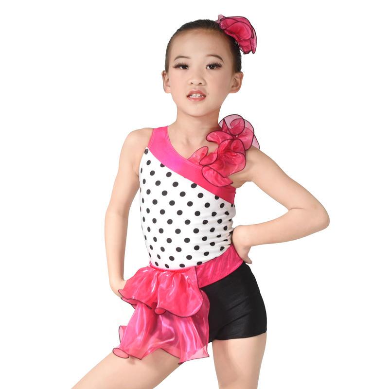 MiDee Girls Latin Jazz & Tap Dance Dress Skating Performance Costumes