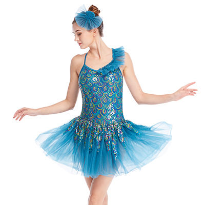 Romantic Theme Peacock Sequins Ballet Costume Tutu Dress Performance Wear Whole Sell Tutus Dresses