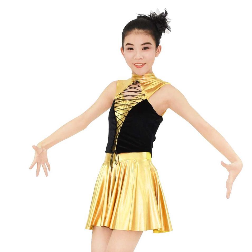 MiDee Popular Golden Sexy Dance Dress Hot Girl Club Hip Hop Dance Wear On Sale