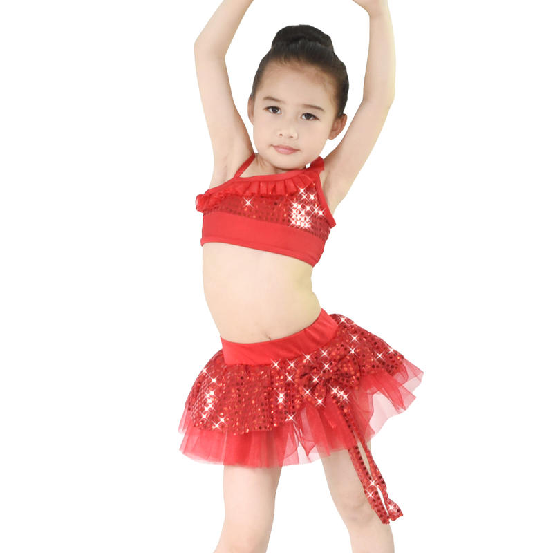 MiDee Girls Lyrical Dance Dress Girls Gymnastics Dresses Belly Dance Costume For Kids