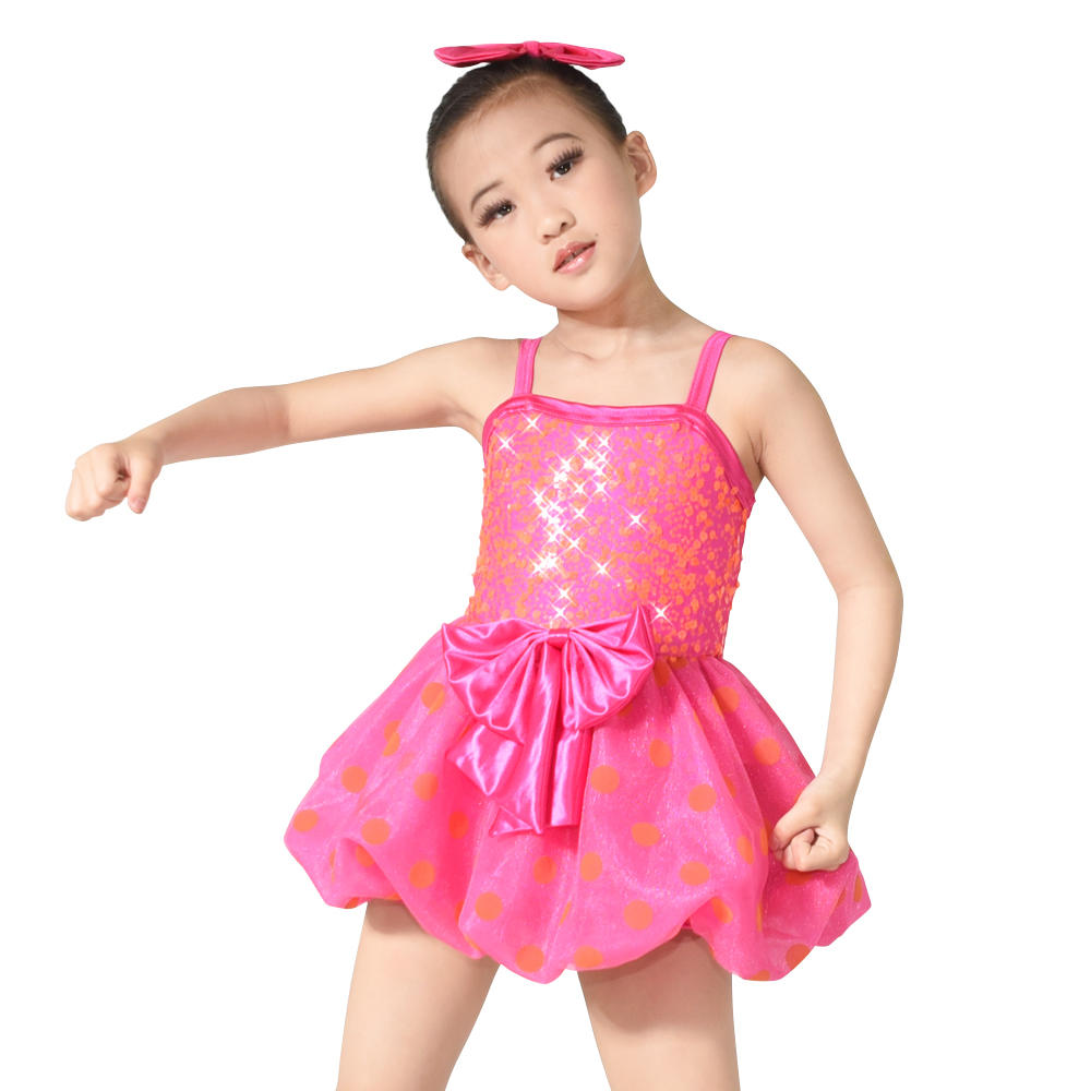 MiDee Hot Pink Camisole Ballet Girls Dance Costumes Kids Party Wear
