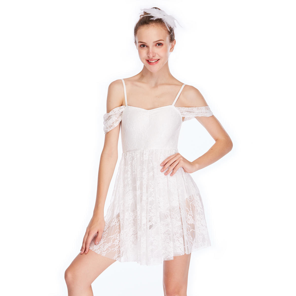 MiDee Girl Ballet  Ballroom Dancing Skirt Bollywood Dance Costumes