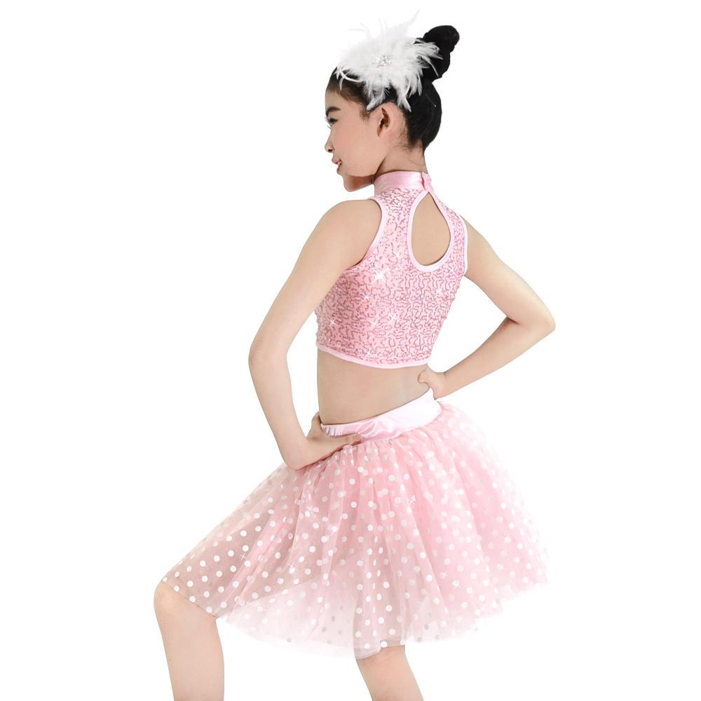 Pink Dot Children Belly Dance Costumes Ballet Tutu Costume For Girls