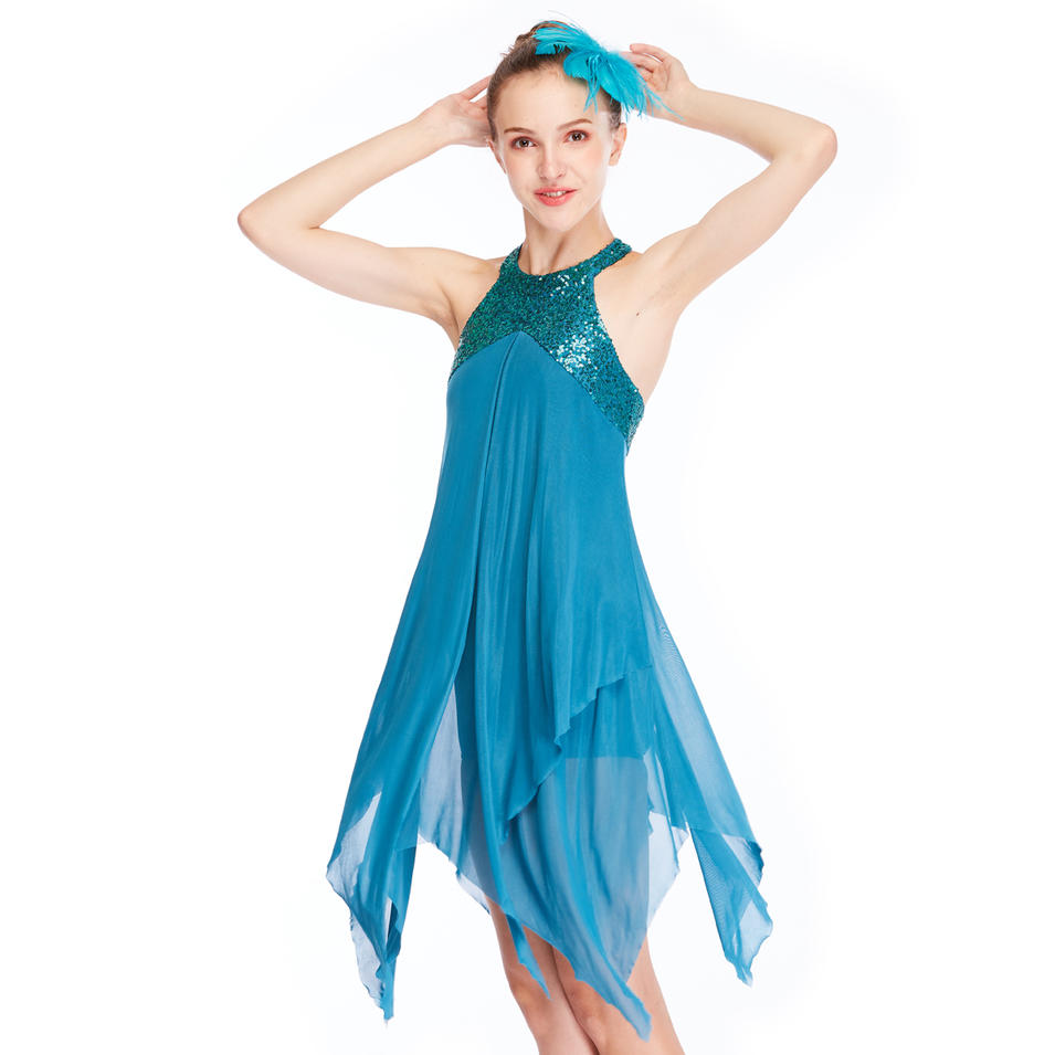 MiDee Modern Backless Sleeveless Lyrical Flamenco Dance Costume Dress Bridesmaids Dresses