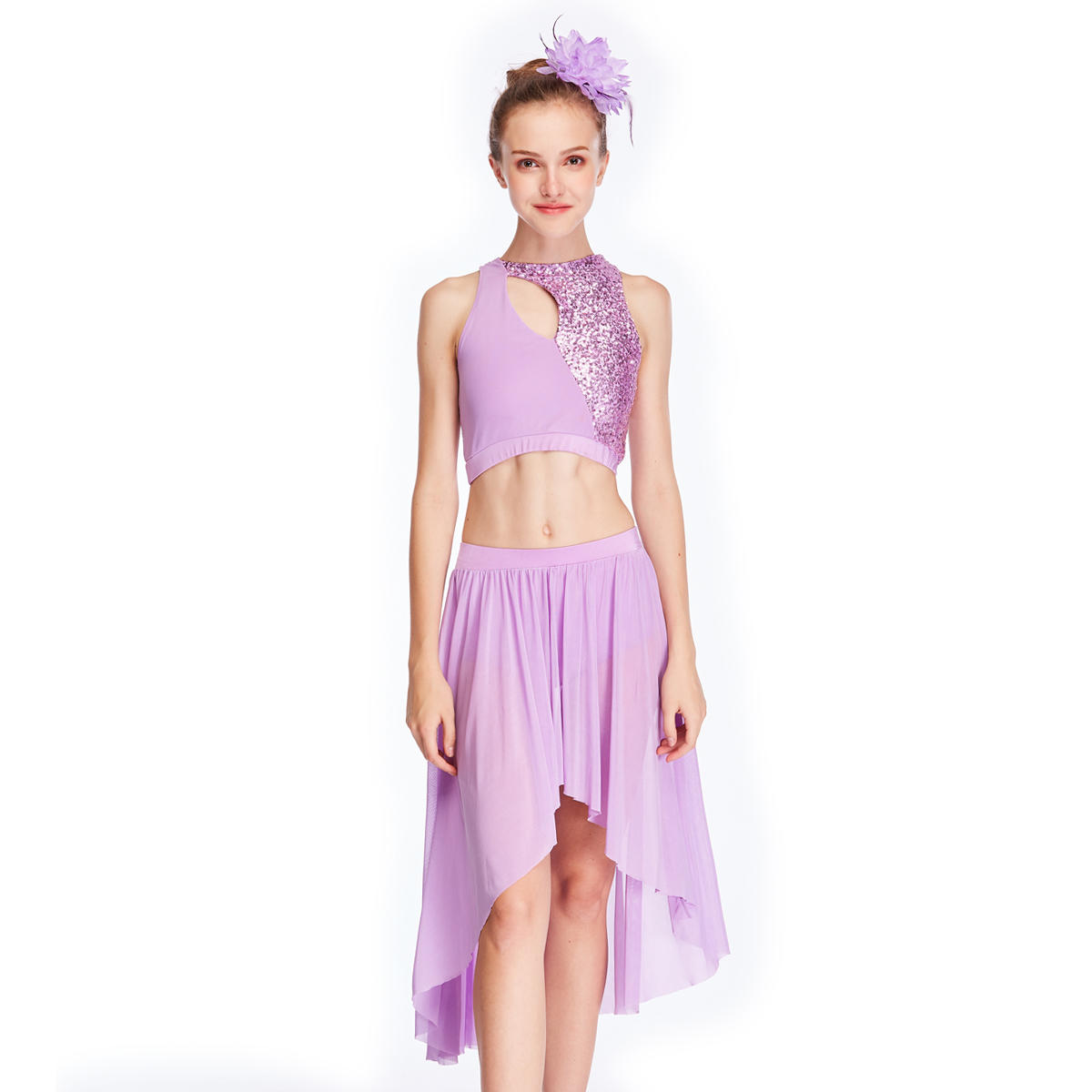 MiDee Sequins Elegant Modern Ballet Dance Costumes Belly Dance Wear