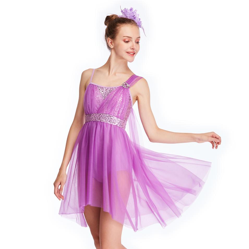 MiDee Costumes Tulle Dance Dresses Lyrical Ballroom Dance Costumes