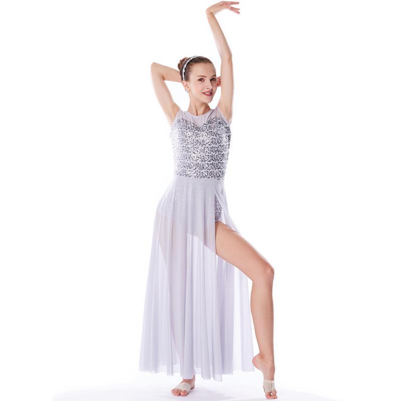 MiDee Sequined Illusion Sweetheart Tank Top Latin Dress Dance Costume