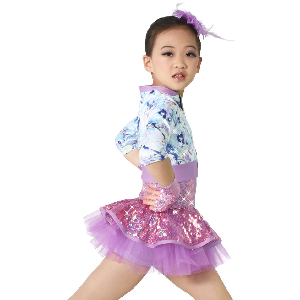 MiDee Jazz Dance Costumes Dresses Performance Wear Dance Outfits for Girls