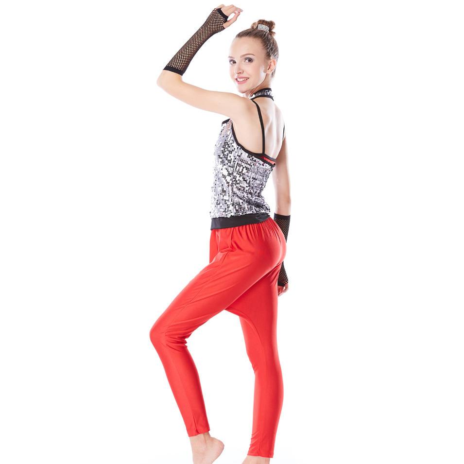 MiDee Halter Neck Sequins Top Harem Pants Hip Hop Dance Costumes Performance Outfits Wear