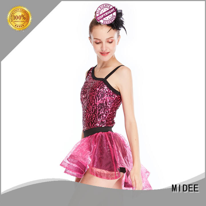 MIDEE tie jazz dance costumes customization competition