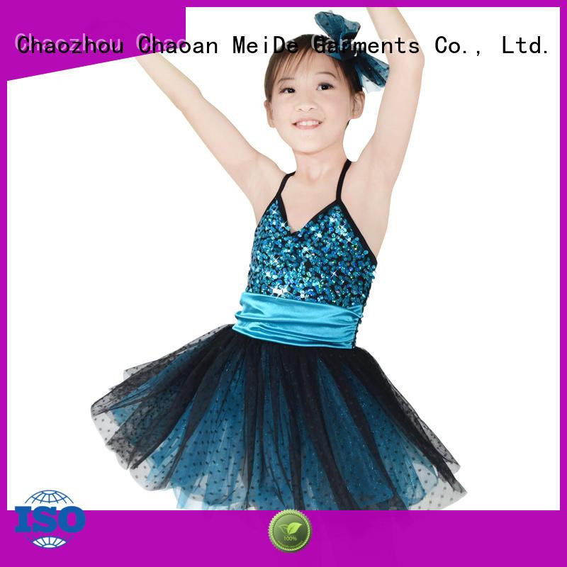MIDEE comfortable kids ballet dress factory price show