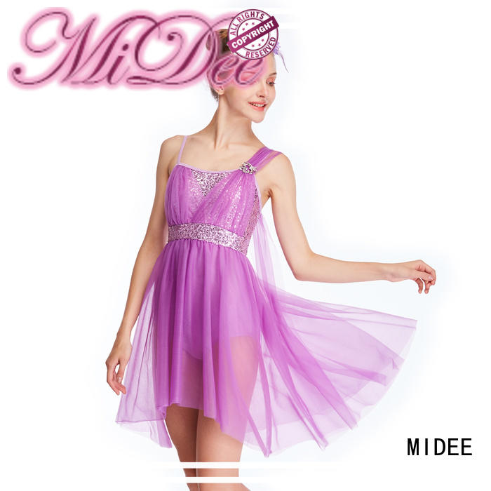 MIDEE OEM girls lyrical dance costumes custom show