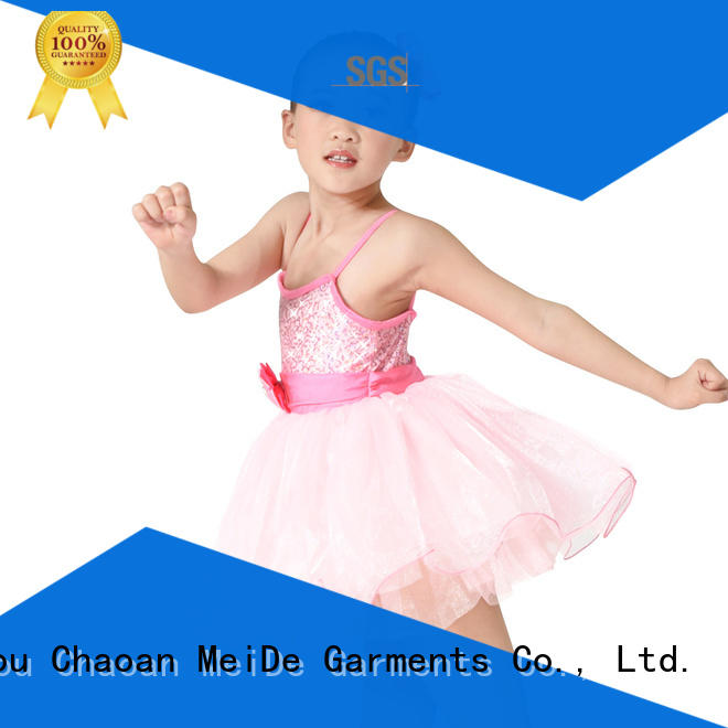 anti-wear toddler ballet leotards waistband bulk production competition