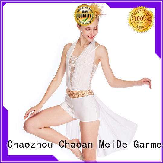 OEM adult dance clothes pleated custom stage