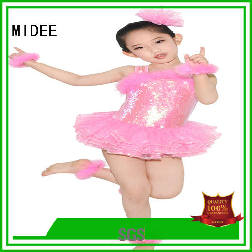 MIDEE pleated dance costumes lyrical dance clothes performance
