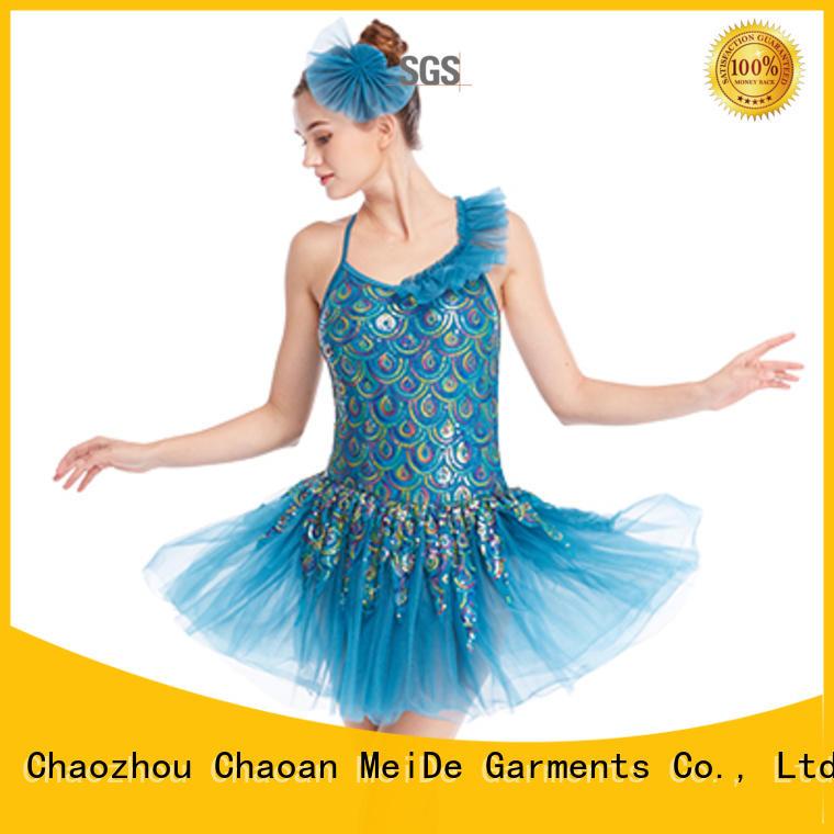 MIDEE adjustable toddler ballet leotards waistband Stage
