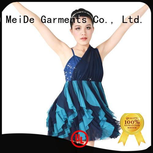 MIDEE professional dress dance jazz costumes fringed dancer