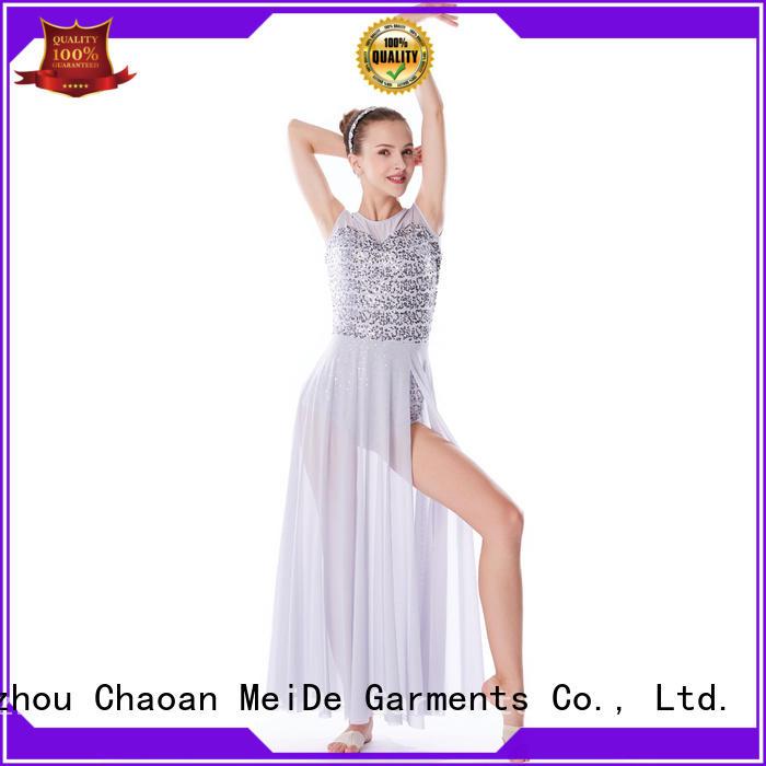 OEM girls lyrical dance costumes elegant dance clothes stage