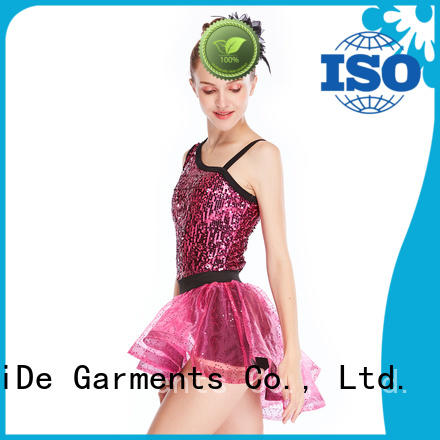 neck jazz dance costumes for competition for wholesale dance school MIDEE