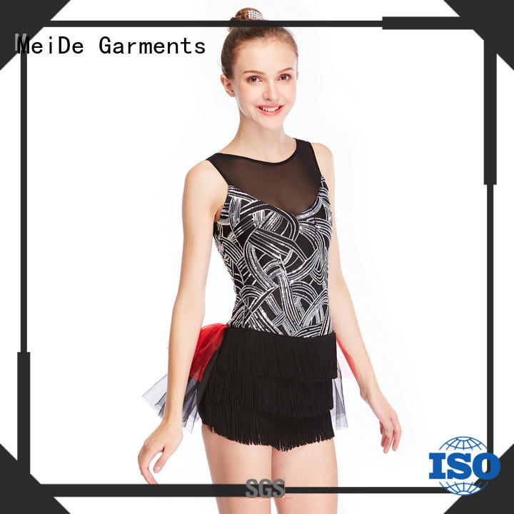 professional dress jazz outfits ladies black manufacturer Stage