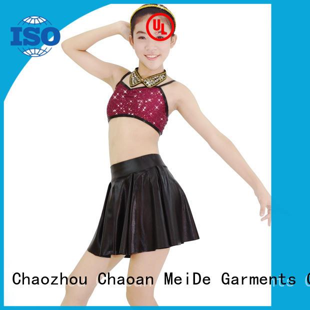 MIDEE white girls jazz costumes customization show