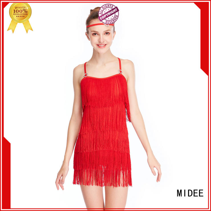 MIDEE fringes jazz dance outfits manufacturer competition