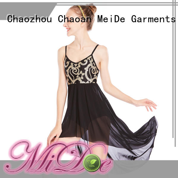customization 2 piece lyrical dance costumes oneshoulder dance clothes show