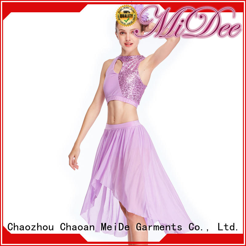 MIDEE joints two piece lyrical dance costumes custom performance