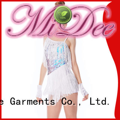 MIDEE sequined latin dance costumes customization Stage