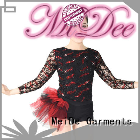 MIDEE sequined jazz leotards for wholesale performance