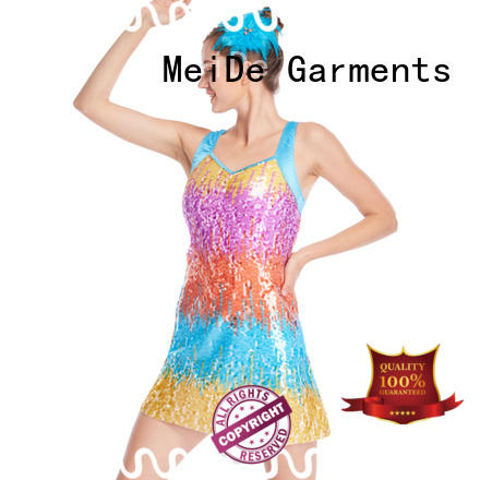 MIDEE fringed jazz costumes for competition for wholesale dance school
