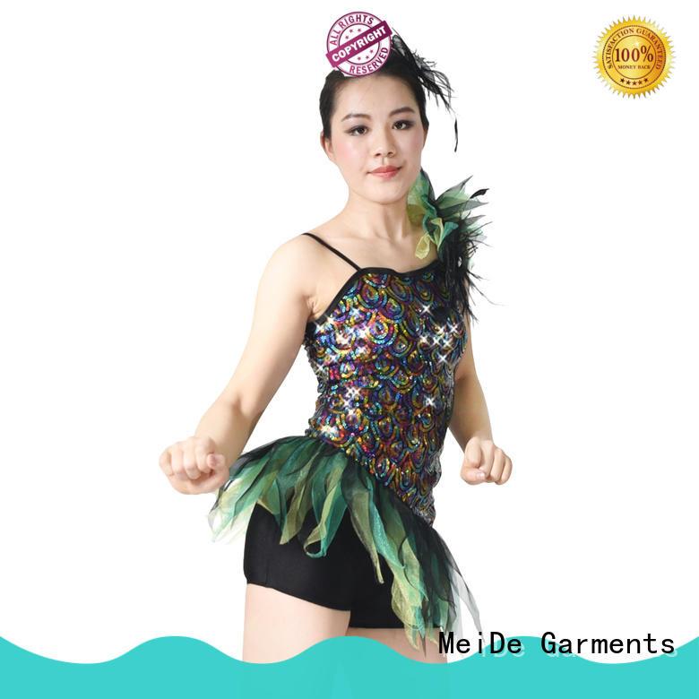 MIDEE white latin dance costumes customization dancer