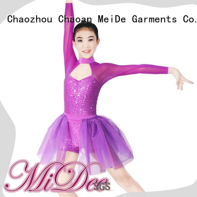 spirals custom lyrical dance costumes elegant stage MIDEE