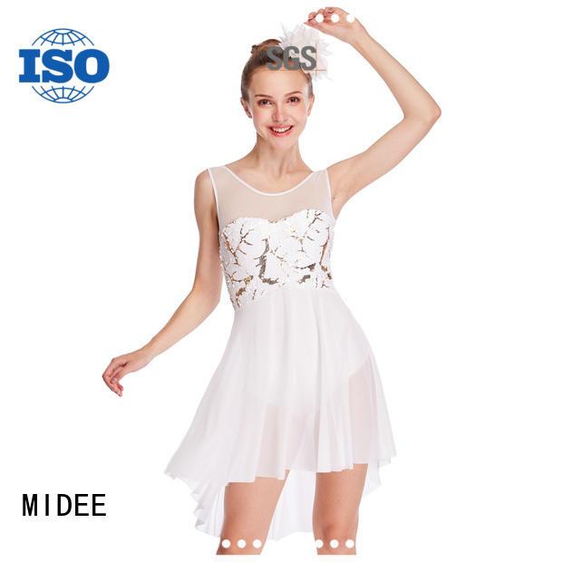 MIDEE tassel girls lyrical dance costumes dance clothes show