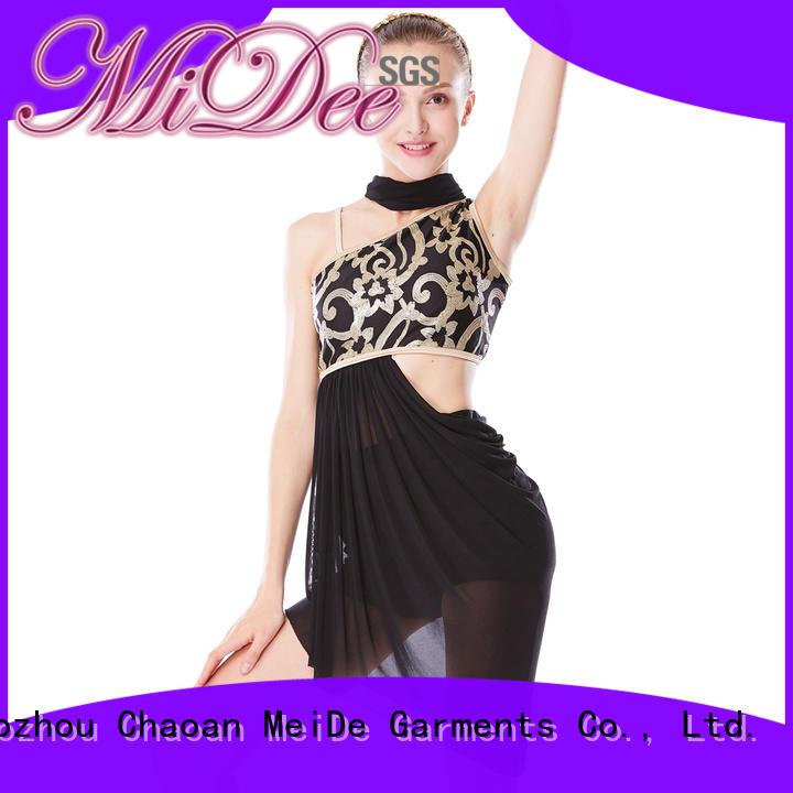 MIDEE asymmetric custom lyrical dance costumes custom competition
