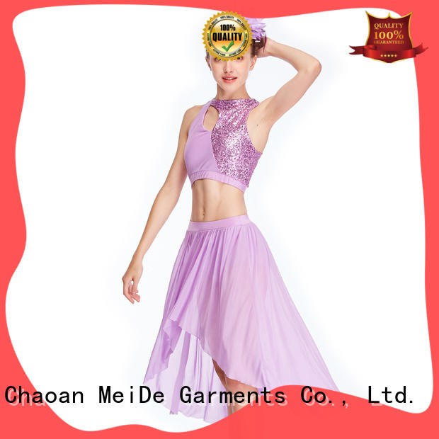 MIDEE camisole two piece lyrical dance costumes dance clothes stage