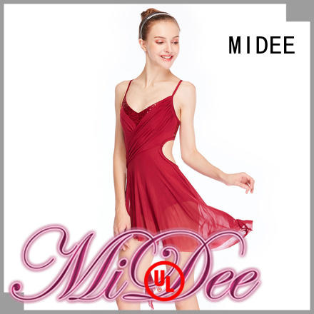 MIDEE pleated dance costumes lyrical dance clothes stage