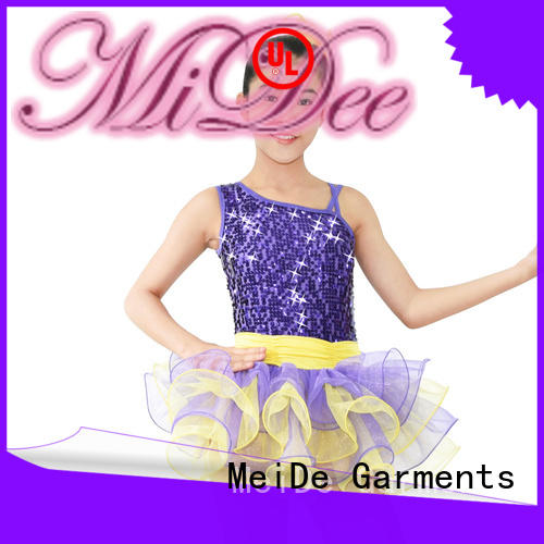 MIDEE sleeves girls ballet costume bulk production show