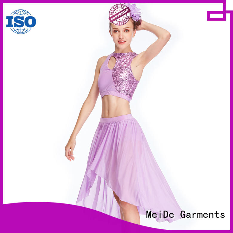 OEM girls lyrical costume dance clothes show MIDEE