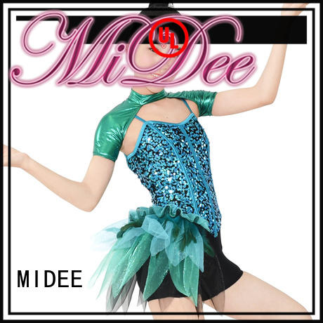 MIDEE fringed jazz dance outfits for wholesale competition