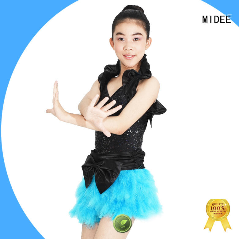MIDEE professional dress jazz dance costumes for women fringed competition