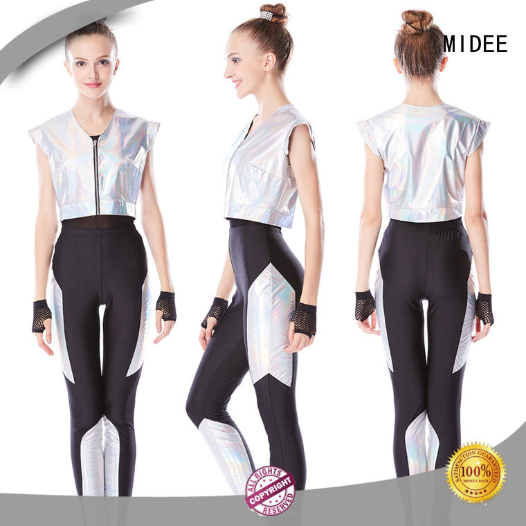 jazz dance outfit fringes competition MIDEE