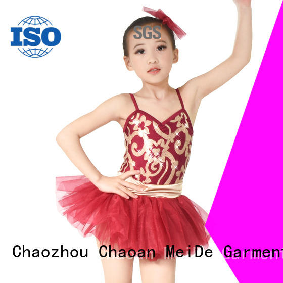 MIDEE shoulder girls ballet costume factory price competition