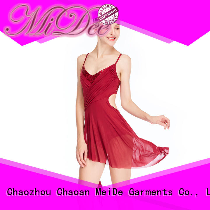 MIDEE vneck lyrical contemporary costumes dance clothes performance