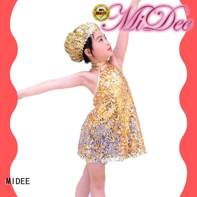 MIDEE white jazz dance costumes for competition customization performance