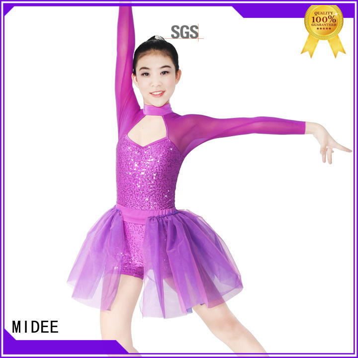 MIDEE sequins lyrical dance costumes custom competition