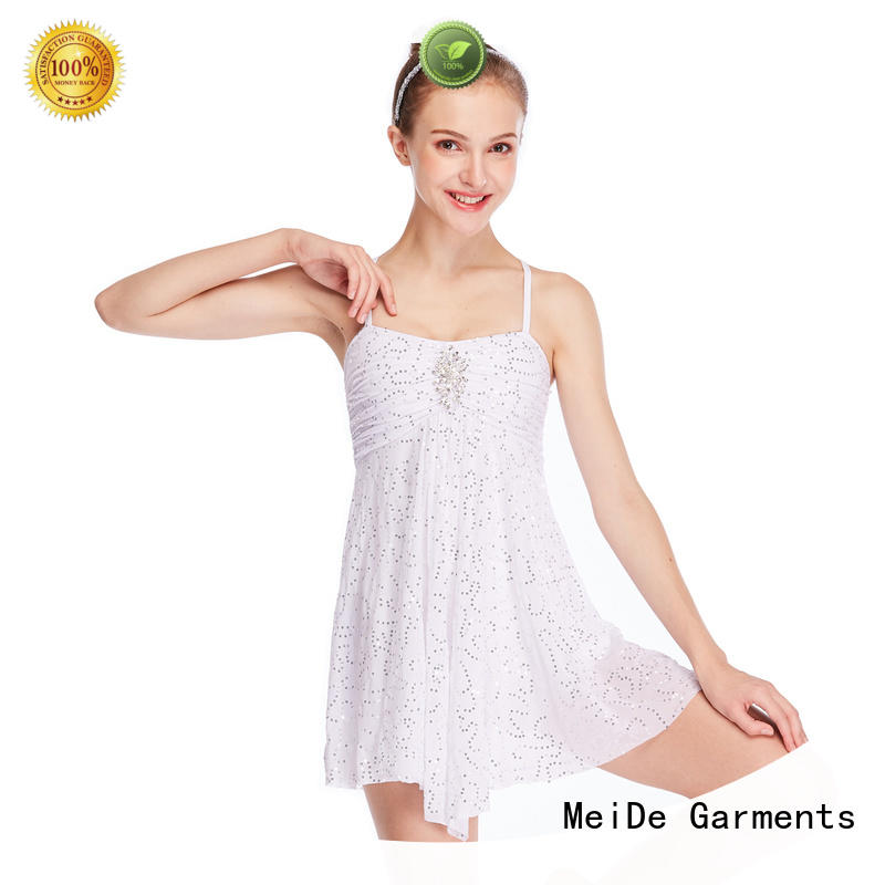 OEM girls lyrical dance costumes sequins dance clothes stage